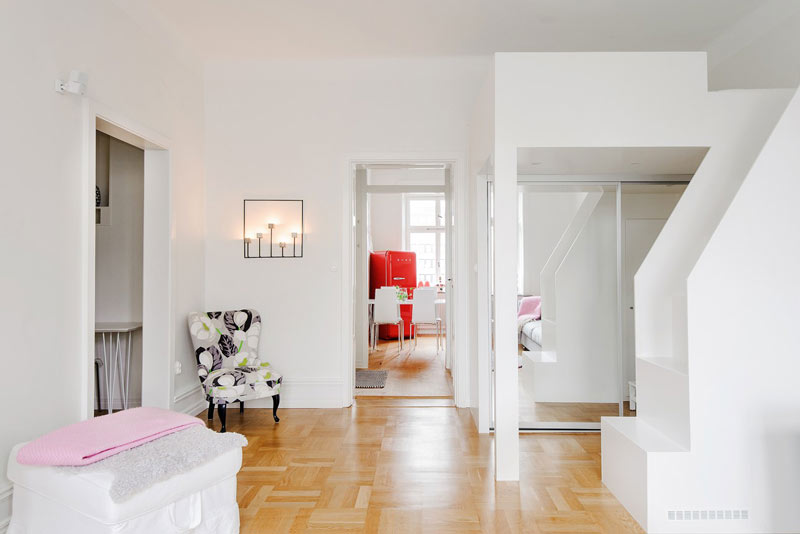 粉白色公寓小卧室装修效果图