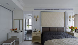 美式别墅带卫生间卧室装修效果图