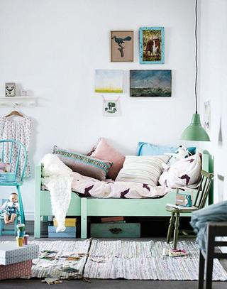 清新北欧风格儿童床设计图片