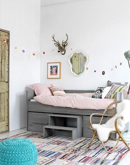 北欧可爱儿童床图片