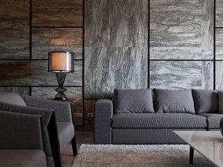 客厅沙发大理石背景墙装修效果图