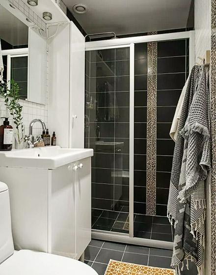85平北欧一居室卫生间装修大全图片