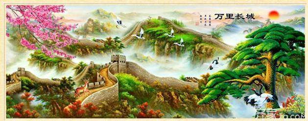 十字绣 客厅/植物的山水画:比如说国花牡丹因为喻意富贵吉祥,所以一直深受...