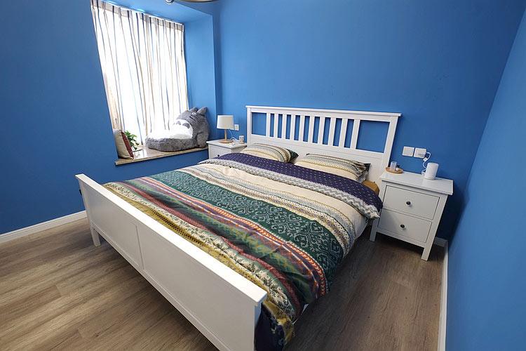 海蓝色地中海风卧室效果图