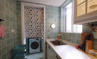 地中海绿色厨房瓷砖装修效果图