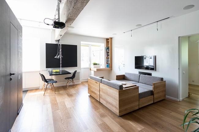 简约风格白色墙壁客厅装修效果图