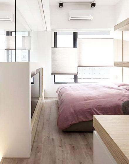 40平单身公寓卧室装修图高清图片