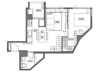 40平单身公寓平面设计图