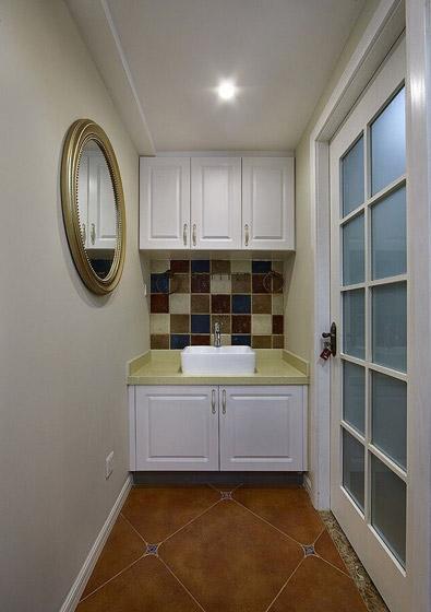 美式乡村风格洗手台装修效果图