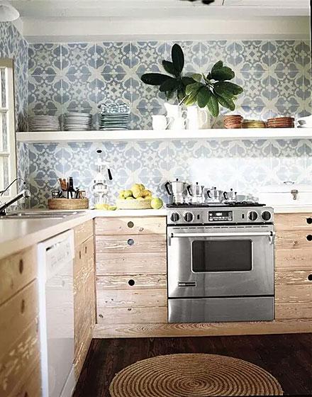 简约厨房背景墙瓷砖贴图