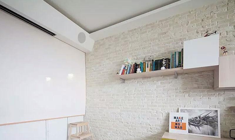 40平米单身公寓墙面收纳图片