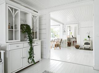 北欧风格清新白色走廊装修效果图