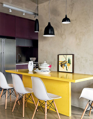 loft风格单身公寓餐厅装修设计图