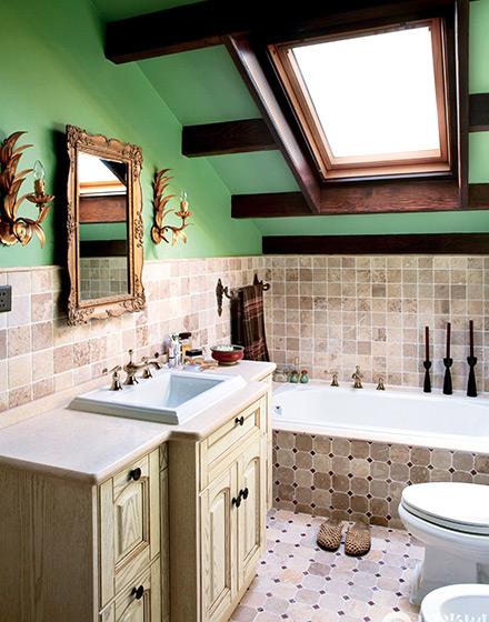 128平复式公寓浴室装修效果图