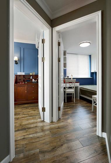 美式风格卧室走廊装修设计
