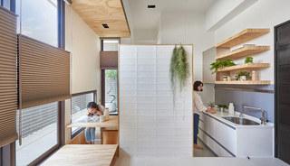 30平米错层迷你小屋厨房书房装修效果图
