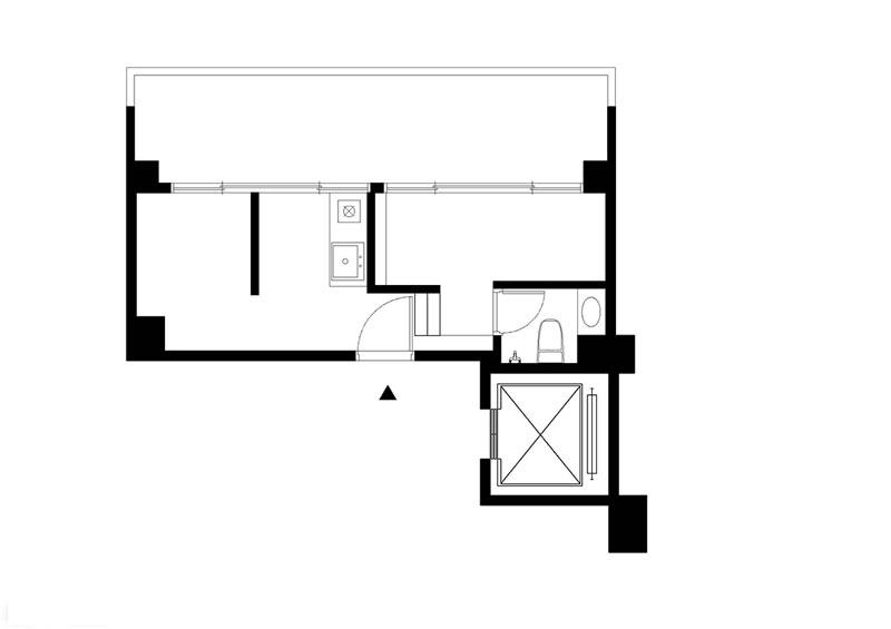 30平米错层迷你小屋户型图