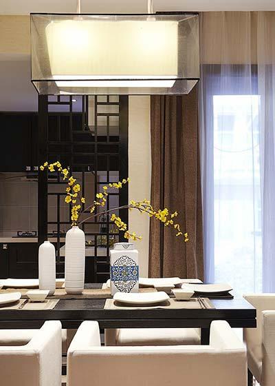 古典新中式餐厅吊灯效果图