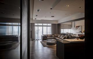 新中式风格客厅过道吊顶装修设计