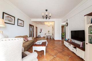 美式风格简洁客厅装修效果图片