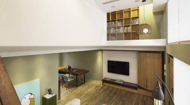 自然风格挑高客厅装修效果图