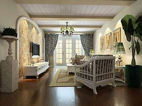 传统中的小清新  12个美式田园客厅设计图