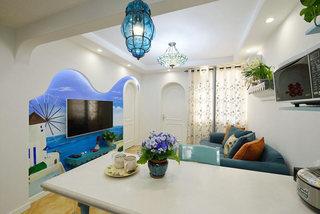 浪漫地中海风情 客餐厅一体设计