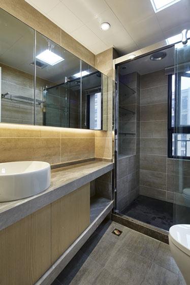 新中式原木色主卫生间装修效果图