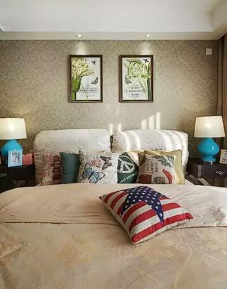 90平美式混搭三居卧室装潢图