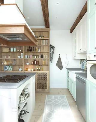 北欧风格单身公寓厨房图片