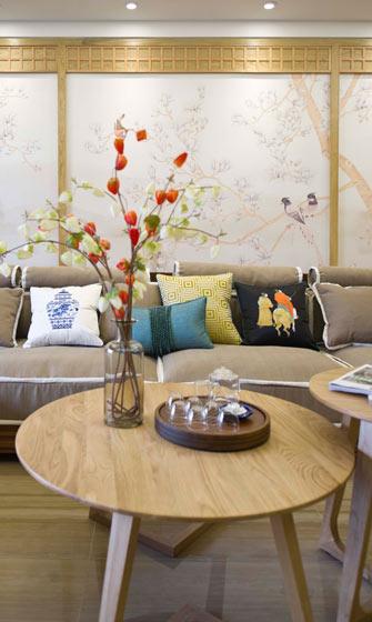 新中式清新沙发装修效果图