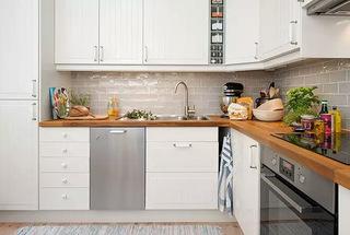 北欧风厨房橱柜装饰效果图
