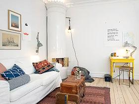 清新简洁北欧风格 一居室公寓效果图