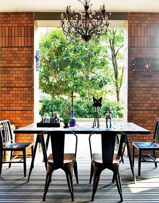148平两居室餐厅装潢效果图