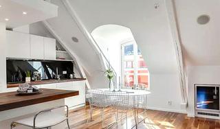 60平阁楼公寓餐厨一体设计图