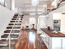 阁楼变身阳光房 60平挑高阁楼小公寓装修