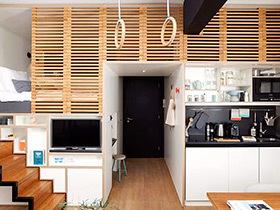 逆天蜗居玩转25㎡ 木质阁楼单身公寓装修