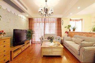 田园风格温馨客厅装修效果图