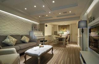 美式乡村风格温馨客厅装修效果图