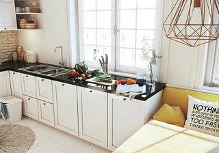 北欧风格开放式厨房装修效果图
