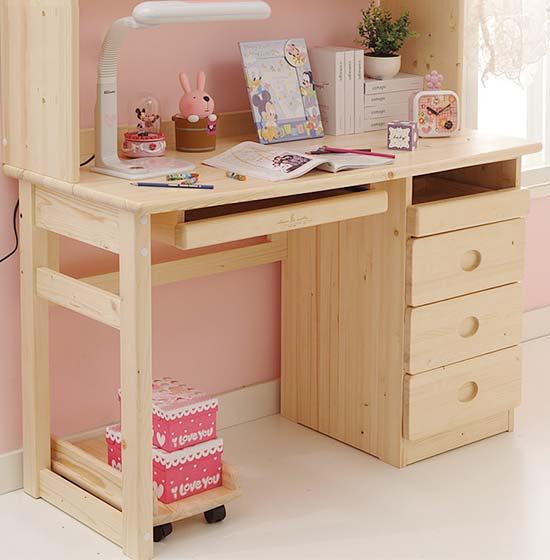 粉色小书桌