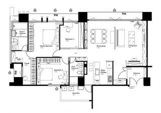 125平美式乡村房子装修设计图