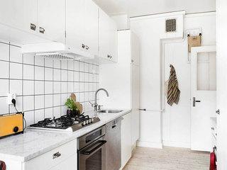 北欧明亮白色厨房装修效果图