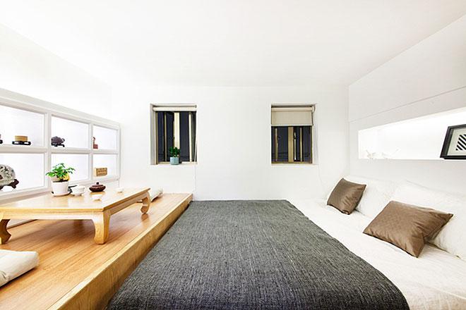 简洁日式榻榻米小卧室效果图