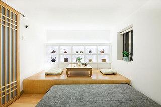 中式风格超小户型卧室茶室装修效果图