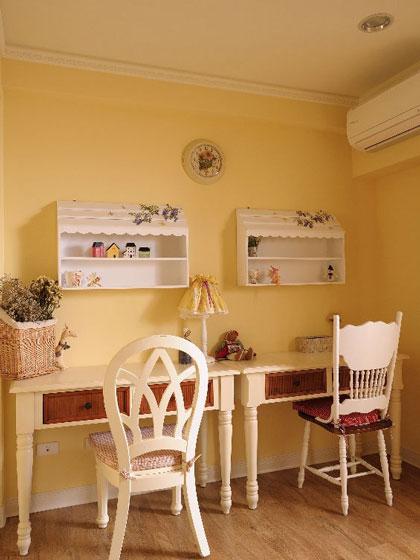 温馨法式乡村风儿童房小书房装修效果图