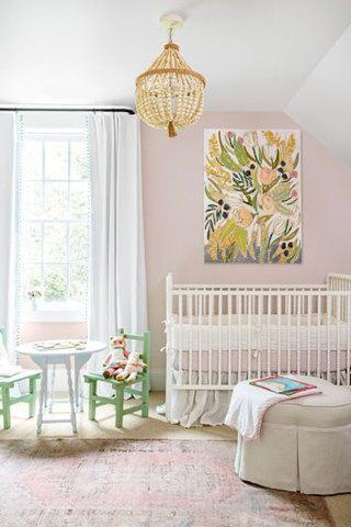 美式田园风可爱粉嫩婴儿房装修效果图