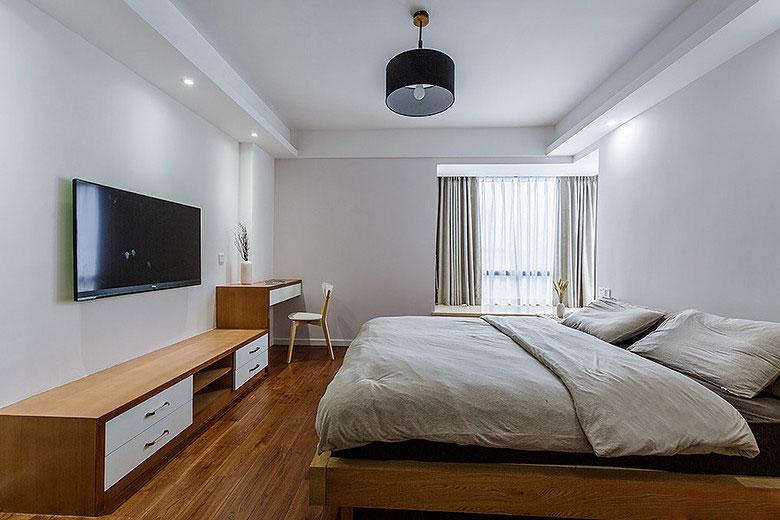 日式木质温馨卧室装修效果图