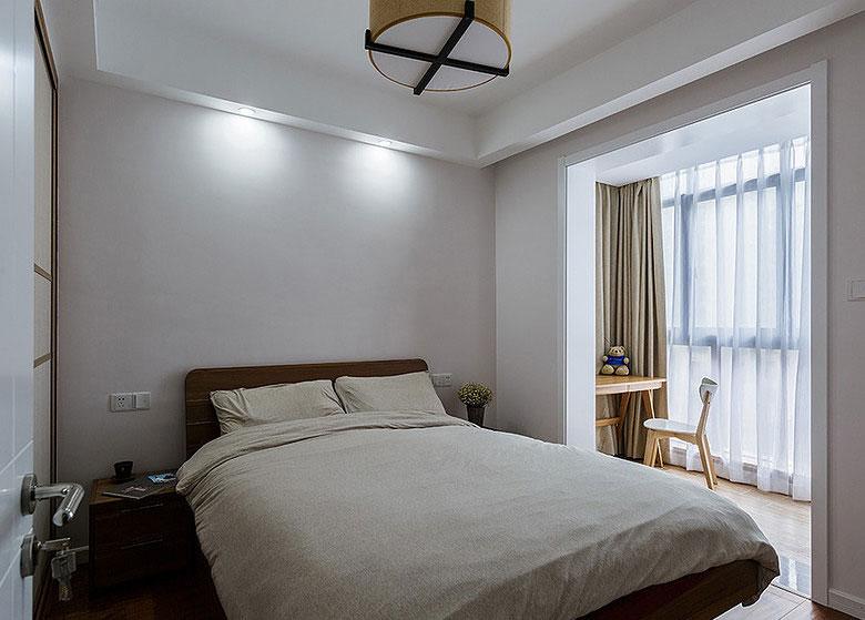 日式简约卧室背景墙装修效果图