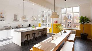 清新柠檬黄北欧风 开放式厨房设计